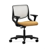 HON Motivate Task Chair | Fog ilira-Stretch Back | Adjustable Arms | Mustard Fabric