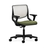 HON Motivate Task Chair | Fog ilira-Stretch Back | Adjustable Arms | Clover Fabric