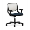 HON Motivate Task Chair | Fog ilira-Stretch Back | Adjustable Arms | Mariner Fabric