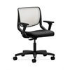 HON Motivate Task Chair | Fog ilira-Stretch Back | Adjustable Arms | Black Fabric
