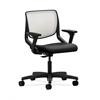 HON Motivate Task Chair | Fog ilira-Stretch Back | Adjustable Arms | Black Fabric