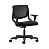 HON Motivate Task Chair | Black ilira-Stretch Back | Adjustable Arms | Black Fabric