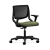 HON Motivate Task Chair | Black ilira-Stretch Back | Adjustable Arms | Clover Fabric