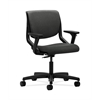HON Motivate Task Chair | Upholstered Back | Adjustable Arms | Onyx Shell | Gray Fabric