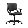 HON Motivate Task Chair | Upholstered Back | Adjustable Arms | Onyx Shell | Onyx Fabric