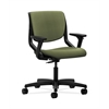 HON Motivate Task Chair | Upholstered Back | Adjustable Arms | Onyx Shell | Clover Fabric