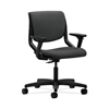 HON Motivate Task Chair | Upholstered Back | Adjustable Arms | Onyx Shell | Charcoal Fabric