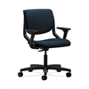 HON Motivate Task Chair | Upholstered Back | Adjustable Arms | Onyx Shell | Mariner Fabric