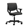 HON Motivate Task Chair | Upholstered Back | Adjustable Arms | Onyx Shell | Carbon Fabric