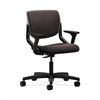 HON Motivate Task Chair | Upholstered Back | Adjustable Arms | Platinum Shell | Espresso Fabric