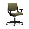 HON Motivate Task Chair | Upholstered Back | Adjustable Arms | Platinum Shell | Olivine Fabric