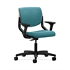 HON Motivate Task Chair | Upholstered Back | Adjustable Arms | Platinum Shell | Glacier Fabric