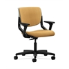 HON Motivate Task Chair | Upholstered Back | Adjustable Arms | Platinum Shell | Mustard Fabric