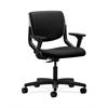 HON Motivate Task Chair | Upholstered Back | Adjustable Arms | Platinum Shell | Black Fabric