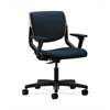 HON Motivate Task Chair | Upholstered Back | Adjustable Arms | Platinum Shell | Mariner Fabric