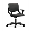 HON Motivate Task Chair | Upholstered Back | Adjustable Arms | Platinum Shell | Carbon Fabric