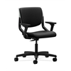 HON Motivate Task Chair | Upholstered Back | Adjustable Arms | Platinum Shell | Black Fabric