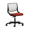 HON Motivate Task Chair | Fog ilira-Stretch Back | Poppy Fabric