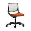 HON Motivate Task Chair | Fog ilira-Stretch Back | Tangerine Fabric