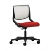 HON Motivate Task Chair | Fog ilira-Stretch Back | Tomato Fabric