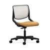 HON Motivate Task Chair | Fog ilira-Stretch Back | Mustard Fabric