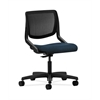 HON Motivate Task Chair | Black ilira-Stretch Back | Blue Fabric