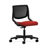 HON Motivate Task Chair | Black ilira-Stretch Back | Tomato Fabric