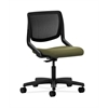 HON Motivate Task Chair | Black ilira-Stretch Back | Olivine Fabric