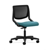 HON Motivate Task Chair | Black ilira-Stretch Back | Glacier Fabric