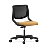 HON Motivate Task Chair | Black ilira-Stretch Back | Mustard Fabric