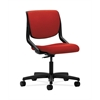 HON Motivate Task Chair | Upholstered Back | Onyx Shell | Tomato Fabric