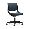 HON Motivate Task Chair | Upholstered Back | Onyx Shell | Cerulean Fabric