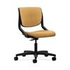 HON Motivate Task Chair | Upholstered Back | Onyx Shell | Mustard Fabric