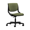 HON Motivate Task Chair | Upholstered Back | Onyx Shell | Clover Fabric