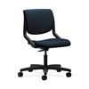 HON Motivate Task Chair | Upholstered Back | Onyx Shell | Mariner Fabric