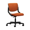 HON Motivate Task Chair | Upholstered Back | Platinum Shell | Tangerine Fabric