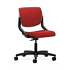 HON Motivate Task Chair | Upholstered Back | Platinum Shell | Tomato Fabric