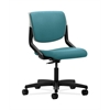 HON Motivate Task Chair | Upholstered Back | Platinum Shell | Glacier Fabric