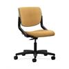 HON Motivate Task Chair | Upholstered Back | Platinum Shell | Mustard Fabric