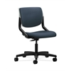 HON Motivate Task Chair | Upholstered Back | Platinum Shell | Jet Fabric