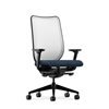HON Nucleus Task Chair | Fog ilira-Stretch Back | Synchro-Tilt, Seat Glide | Adjustable Arms | Blue Fabric