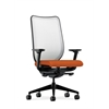 HON Nucleus Task Chair | Fog ilira-Stretch Back | Synchro-Tilt, Seat Glide | Adjustable Arms | Tangerine Fabric