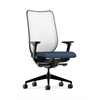 HON Nucleus Task Chair | Fog ilira-Stretch Back | Synchro-Tilt, Seat Glide | Adjustable Arms | Jet Fabric