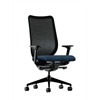 HON Nucleus Task Chair | Black ilira-Stretch Back | Synchro-Tilt, Seat Glide | Adjustable Arms | Blue Fabric