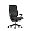 HON Nucleus Task Chair | Black ilira-Stretch Back | Synchro-Tilt, Seat Glide | Adjustable Arms | Iron Ore Fabric
