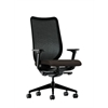 HON Nucleus Task Chair | Black ilira-Stretch Back | Synchro-Tilt, Seat Glide | Adjustable Arms | Espresso Fabric