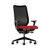 HON Nucleus Task Chair | Black ilira-Stretch Back | Synchro-Tilt, Seat Glide | Adjustable Arms | Tomato Fabric