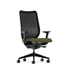 HON Nucleus Task Chair | Black ilira-Stretch Back | Synchro-Tilt, Seat Glide | Adjustable Arms | Olivine Fabric