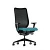 HON Nucleus Task Chair | Black ilira-Stretch Back | Synchro-Tilt, Seat Glide | Adjustable Arms | Glacier Fabric
