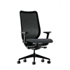 HON Nucleus Task Chair | Black ilira-Stretch Back | Synchro-Tilt, Seat Glide | Adjustable Arms | Onyx Fabric